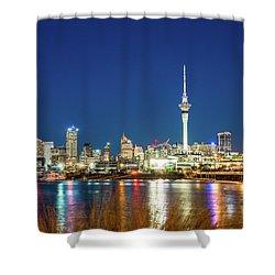 Auckland At Dusk Shower Curtain