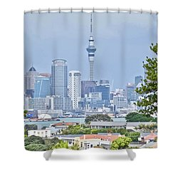 Auckland City C B D Shower Curtain