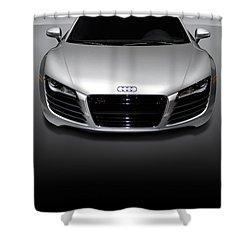 Audi R8 Sports Car Shower Curtain