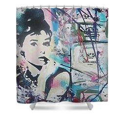 Audrey Chanel Shower Curtain