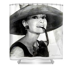 Audrey Hepburn 2 Shower Curtain