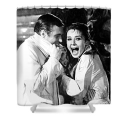 Audrey Hepburn As Holly Golightly Shower Curtain