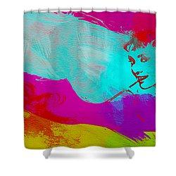 Audrey Hepburn Shower Curtain by Naxart Studio