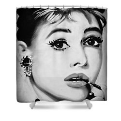 Audrey Hepburn Mural  Shower Curtain