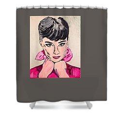 Audrey Hepburn Shower Curtain by Valerie Ornstein