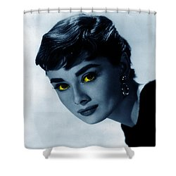Audrey In Blue Shower Curtain