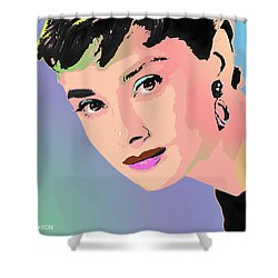 Shower Curtain featuring the digital art Audrey by John Keaton