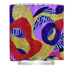 Doo-wop Shower Curtain by Polly Castor