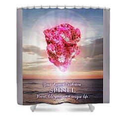 August Birthstone Spinel Shower Curtain
