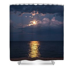 August Full Moon Shower Curtain