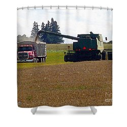 August Harvest Shower Curtain by J McCombie