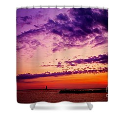 Shower Curtain featuring the photograph August Night by Randall  Cogle