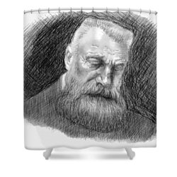 Auguste Rodin Shower Curtain by Antonio Romero