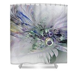August Silk - Fractal Art Shower Curtain