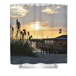 August Sunrise On The Obx  Shower Curtain