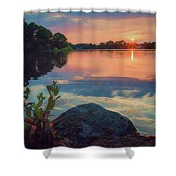 August Sunset Shower Curtain