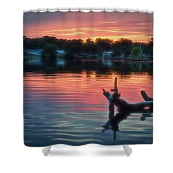 August Sunset Glow Shower Curtain