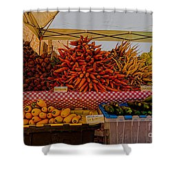 August Vegetables Shower Curtain