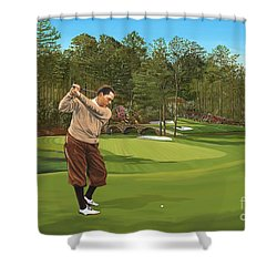 Augusta 11 And 12th Hole Bobbyjones Shower Curtain