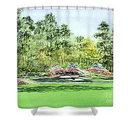 Augusta National Golf Course Shower Curtain by Bill Holkham