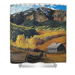 Autumn Nostalgia Wilson Peak Colorado Shower Curtain