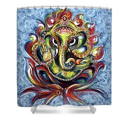 Aum Ganesha Shower Curtain