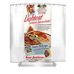 Aunt Jemima Pancakes Shower Curtain