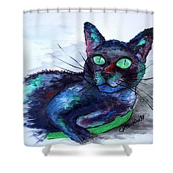 Aunt's Beautiful Companion, Ms. Biscuit Shower Curtain