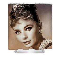 Aurdrey Hepburn - Famous Actress Shower Curtain