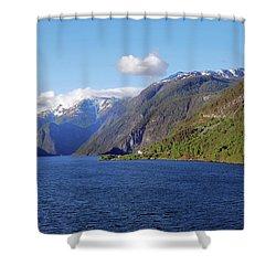 Aurlandsfjord Shower Curtain