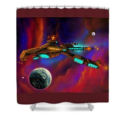 Shower Curtain featuring the painting Auroborus 2015 by James Christopher Hill