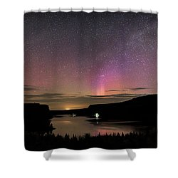 Shower Curtain featuring the photograph Aurora At Lake Billy Chinook by Cat Connor