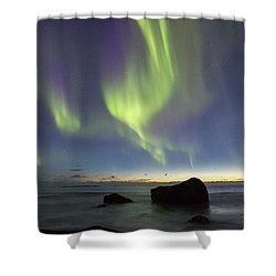 Aurora At Uttakleiv Shower Curtain