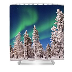 Shower Curtain featuring the photograph Aurora Borealis by Delphimages Photo Creations