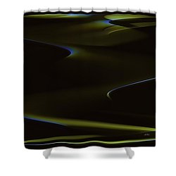 Aurora Borealis Over The Sand Dunes Shower Curtain by Angela A Stanton