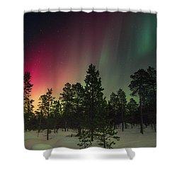 Aurora Borealis Shower Curtain by Thomas M Pikolin