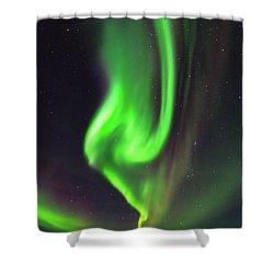 Aurora Burst Shower Curtain by Allen Biedrzycki
