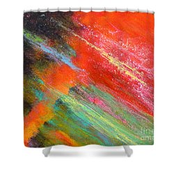 Fantasies In Space Painting Series. Title. Aurora De Fiero. Shower Curtain