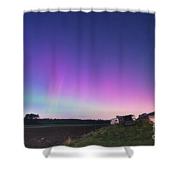 Aurora Energized Pepper Fields Shower Curtain by Patrick Fennell