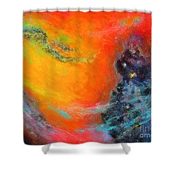 Fantasies In Space Series Painting. Aurora Galaxy Shower Curtain
