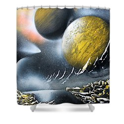 Aurora Shower Curtain by Greg Moores