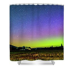 Shower Curtain featuring the photograph Aurora In Sisters by Cat Connor