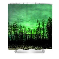 Shower Curtain featuring the photograph Aurora In The Clouds by Bryan Carter