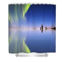 Aurora Mirrored Shower Curtain by Ed Boudreau