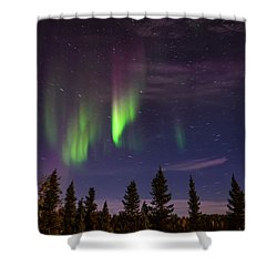Shower Curtain featuring the photograph Aurora Nights by Serge Skiba