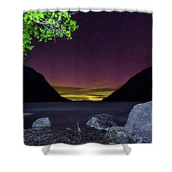 Aurora Over Lake Willoughby Shower Curtain