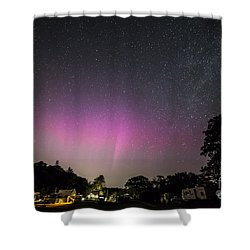 Aurora Over Sagadahoc Bay Campground Shower Curtain