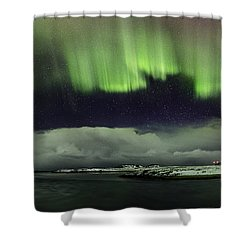 Aurora Polaris Panoramic II Shower Curtain