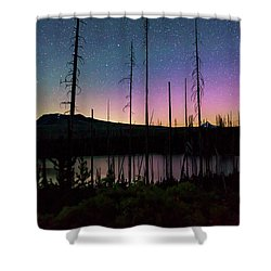 Shower Curtain featuring the photograph Aurora Reflections by Cat Connor