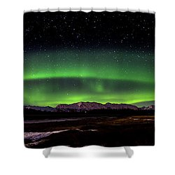 Shower Curtain featuring the photograph Aurora Spiral by Bryan Carter